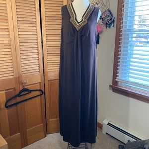 Faded Glory beaded stretch knit maxi dress plus